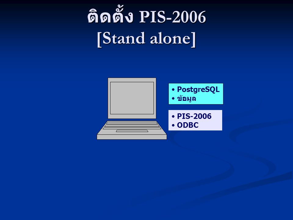 ติดตั้ง PIS-2006 [Stand alone]